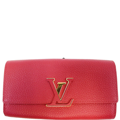 Louis Vuitton Capucines Taurillon Leather Wallet Scarlet