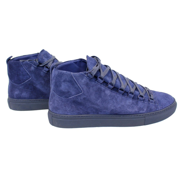 Balenciaga Sneakers Arena Suede Blue - side view