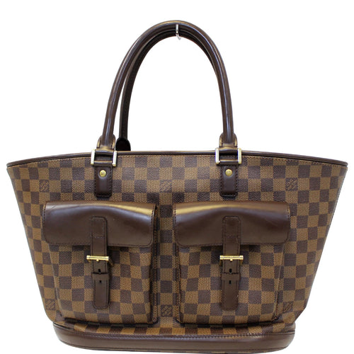 LOUIS VUITTON Manosque GM Damier Ebene Shoulder Bag Brown