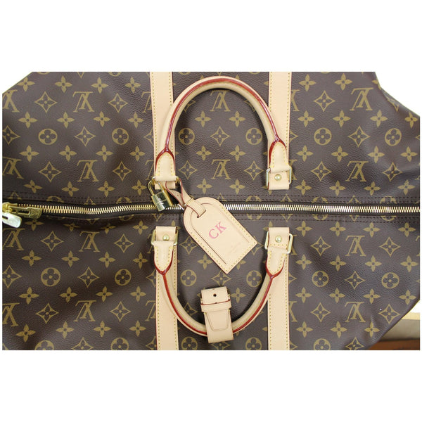 Louis Vuitton Keepall 55 Monogram Canvas Bostan Bag with zip