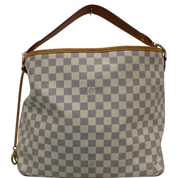 Louis Vuitton Delightful PM Damier Azur Shoulder Hobo Bag White
