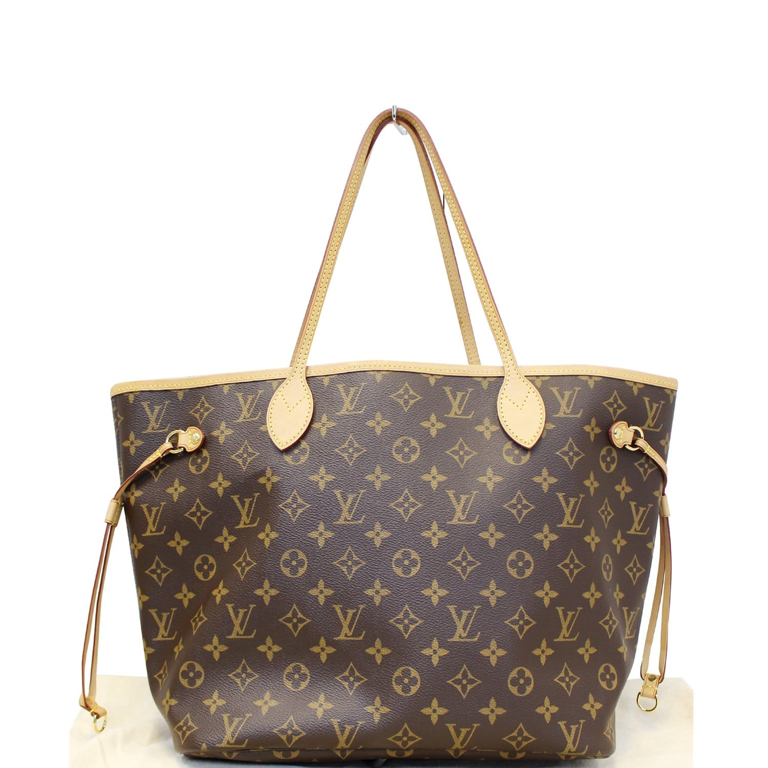 df6bdb28a96b LOUIS VUITTON Neverfull MM Monogram Canvas Tote Shoulder Bag Rose Ballerine -US