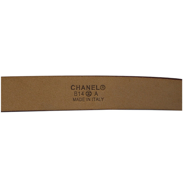 CHANEL Black/Red Leather Women's Belt Size 36-US