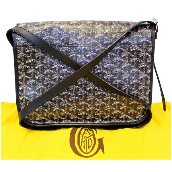 GOYARD Belvedere MM Goyardine Canvas Crossbody Bag Black-US