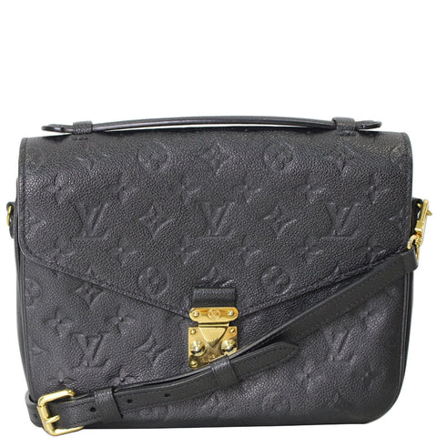 LOUIS VUITTON Metis Pochette Empreinte Leather Crossbody Bag Black