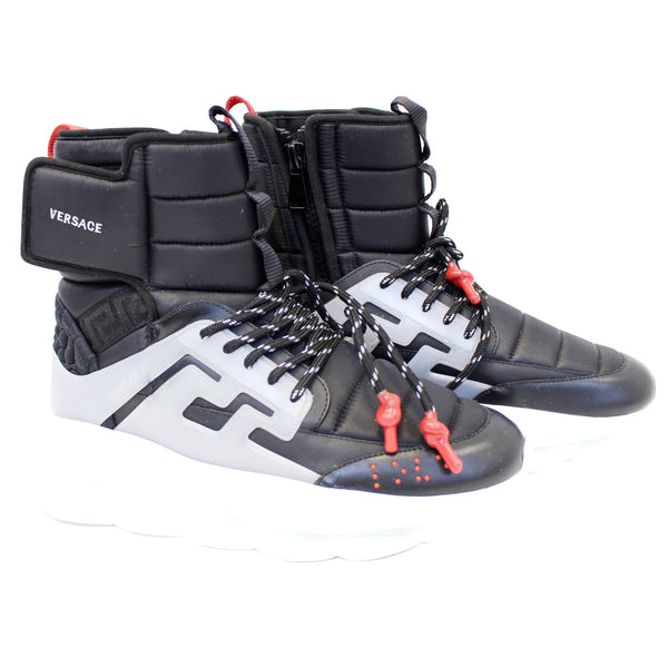 VERSACE Chain Reaction High Top Sneakers Size US 10-US