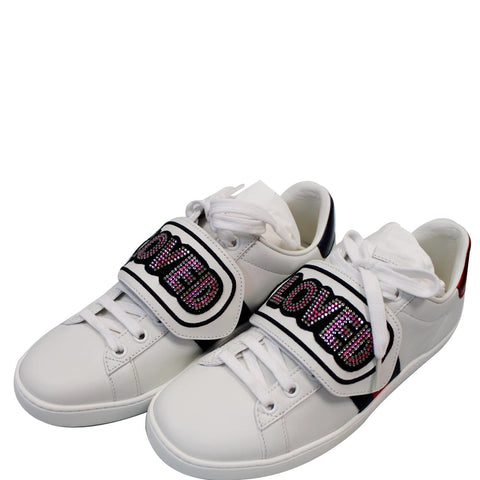 GUCCI Ace Loved Low Top Sneakers White 505329 US 5.5