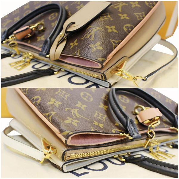 Close View Lv Millefeuille Monogram Canvas Shoulder Bag