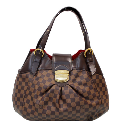 LOUIS VUITTON Sistina GM Damier Ebene Shoulder Handbag Brown - Daily Deal