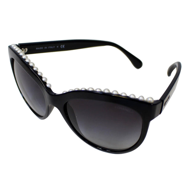 CHANEL Pearl Butterfly Sunglasses Black 6040-H