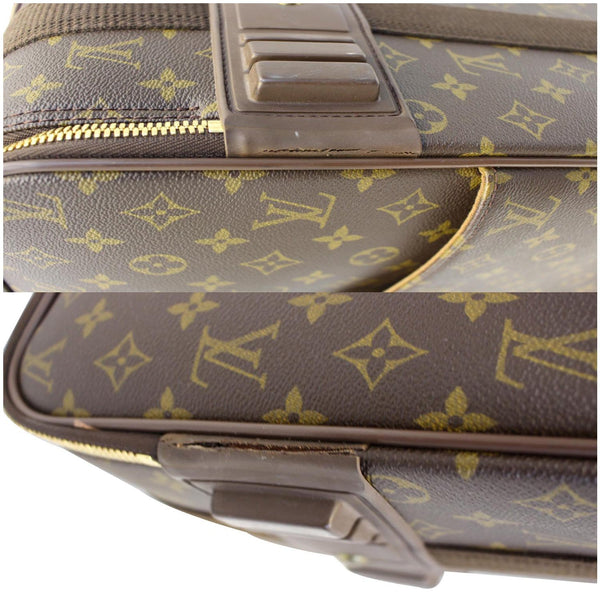 Louis Vuitton Pegase 55 Monogram Canvas Bag closeup