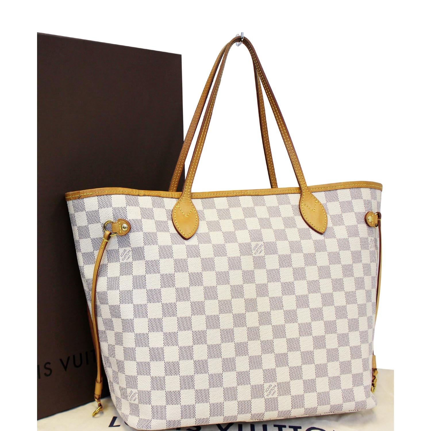 8568d713d445 LOUIS VUITTON Neverfull MM Damier Azur Tote Bag-US
