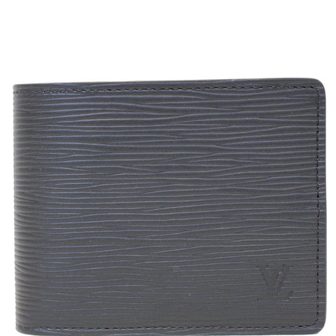 LOUIS VUITTON Slender Epi Leather Wallet Black