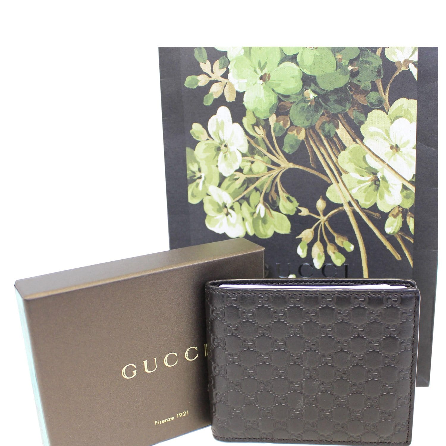 3872c01c4766 GUCCI Black Leather Micro GG Guccissima Bifold Wallet-US