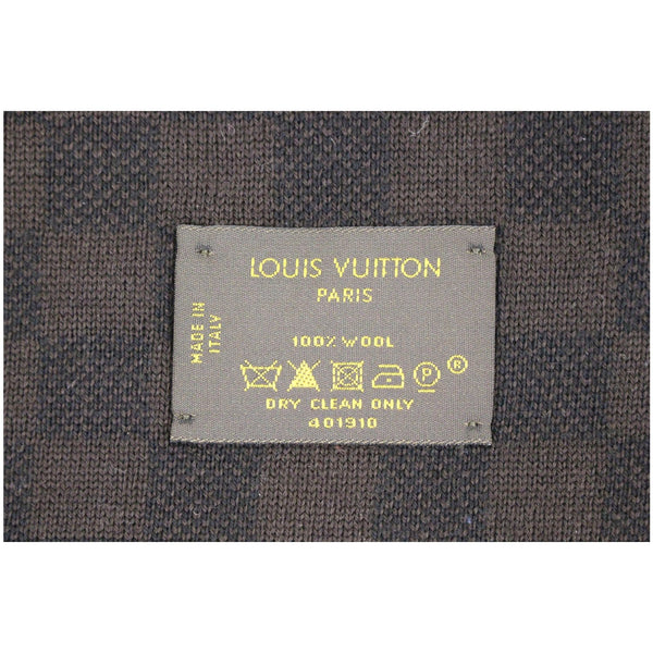 LOUIS VUITTON Wool Petit Damier Stole Scarf Brown-US
