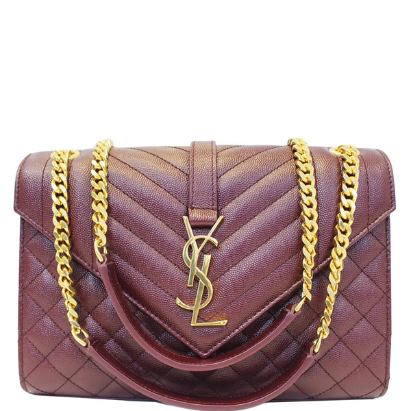 YVES Saint Laurent Envelope Medium Chain Shoulder Bag Burgundy-US