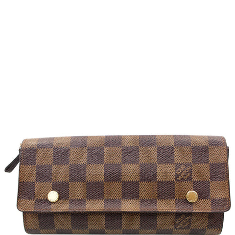 LOUIS VUITTON Modulable Damier Ebene Portefeuille Long Wallet Brown