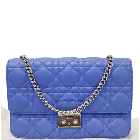 1b41528101e8 CHRISTIAN DIOR Miss Dior Promenade Cannage Quilted Leather Crossbody Bag