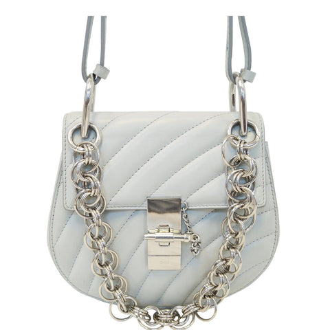 CHLOE Mini Drew Bijou Calfskin Shoulder Bag Grey - 15% OFF