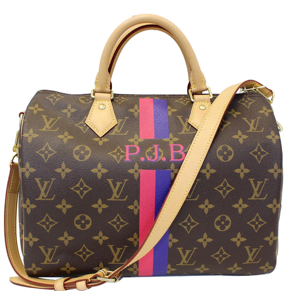 LV Speedy 30 Mon Bandouliere Monogram Canvas Shoulder BN Bag