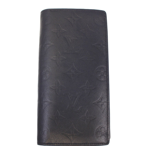 LOUIS VUITTON Brazza Monogram Leather Wallet Black