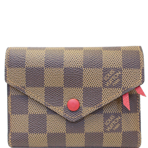 LOUIS VUITTON Victorine Damier Ebene Wallet Brown