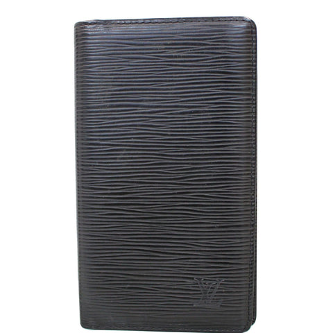 LOUIS VUITTON Brazza Long Epi Wallet Black