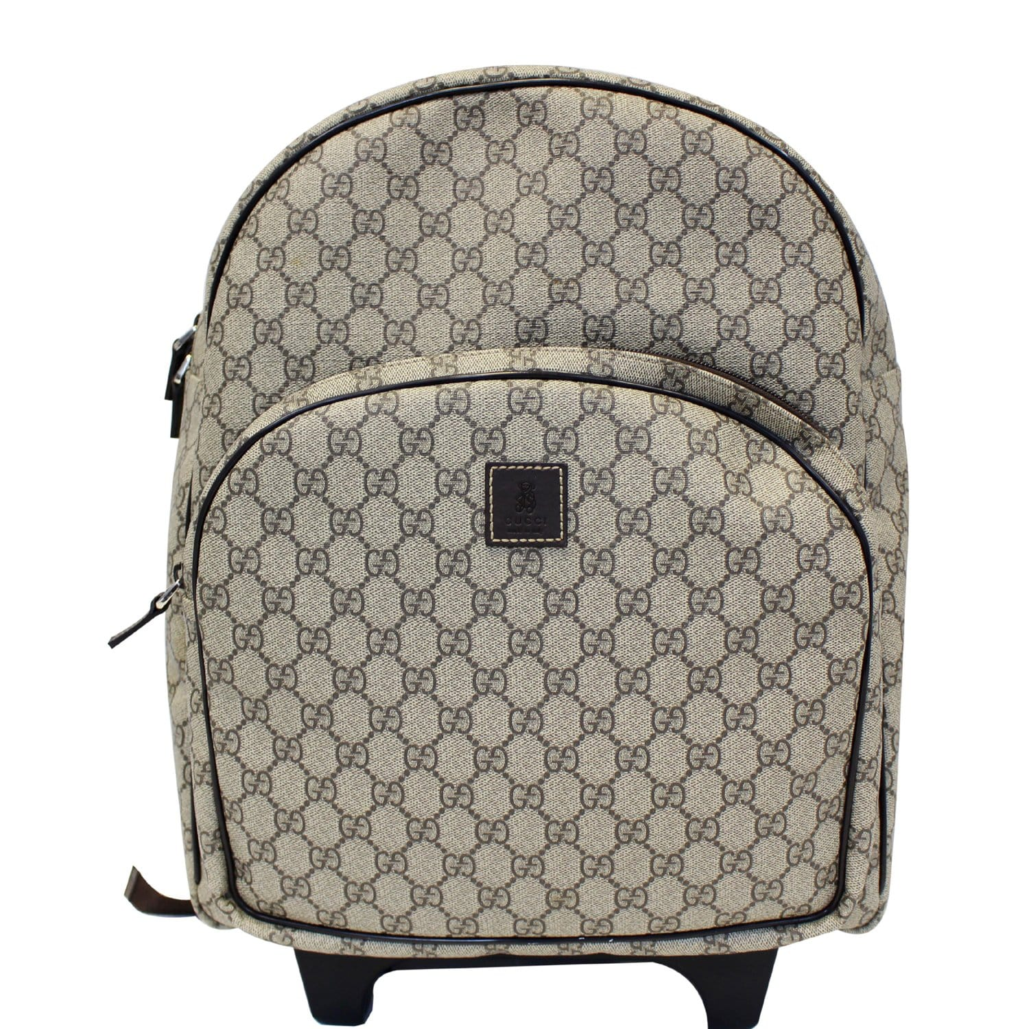 2871637d3ae2 Gucci GG Supreme Canvas Trolley Backpack Bag Beige-US