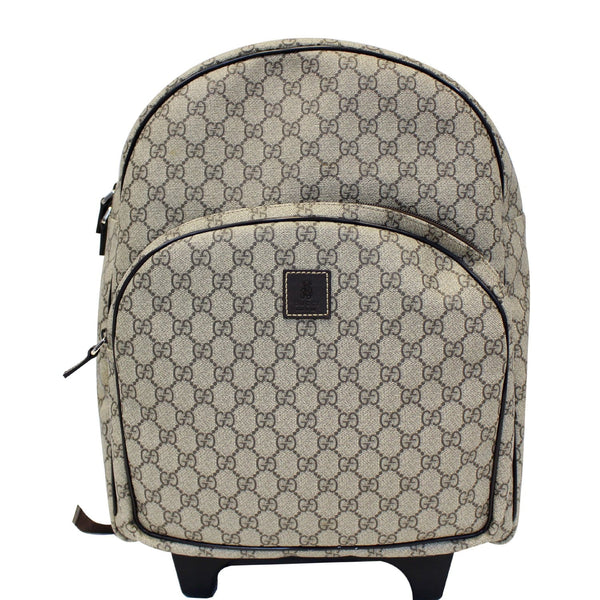 Gucci GG Supreme Canvas Trolley Backpack Bag Beige-US