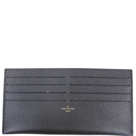 LOUIS VUITTON Leather Insert Wallet for Felicie Black