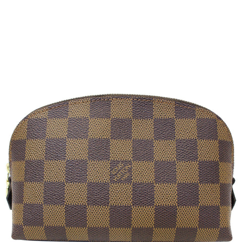 LOUIS VUITTON Damier Ebene Cosmetic Pouch Brown