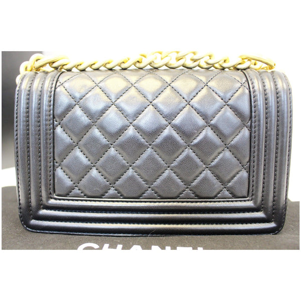 Chanel Le Boy Small Lambskin Leather Shoulder Bag - front view