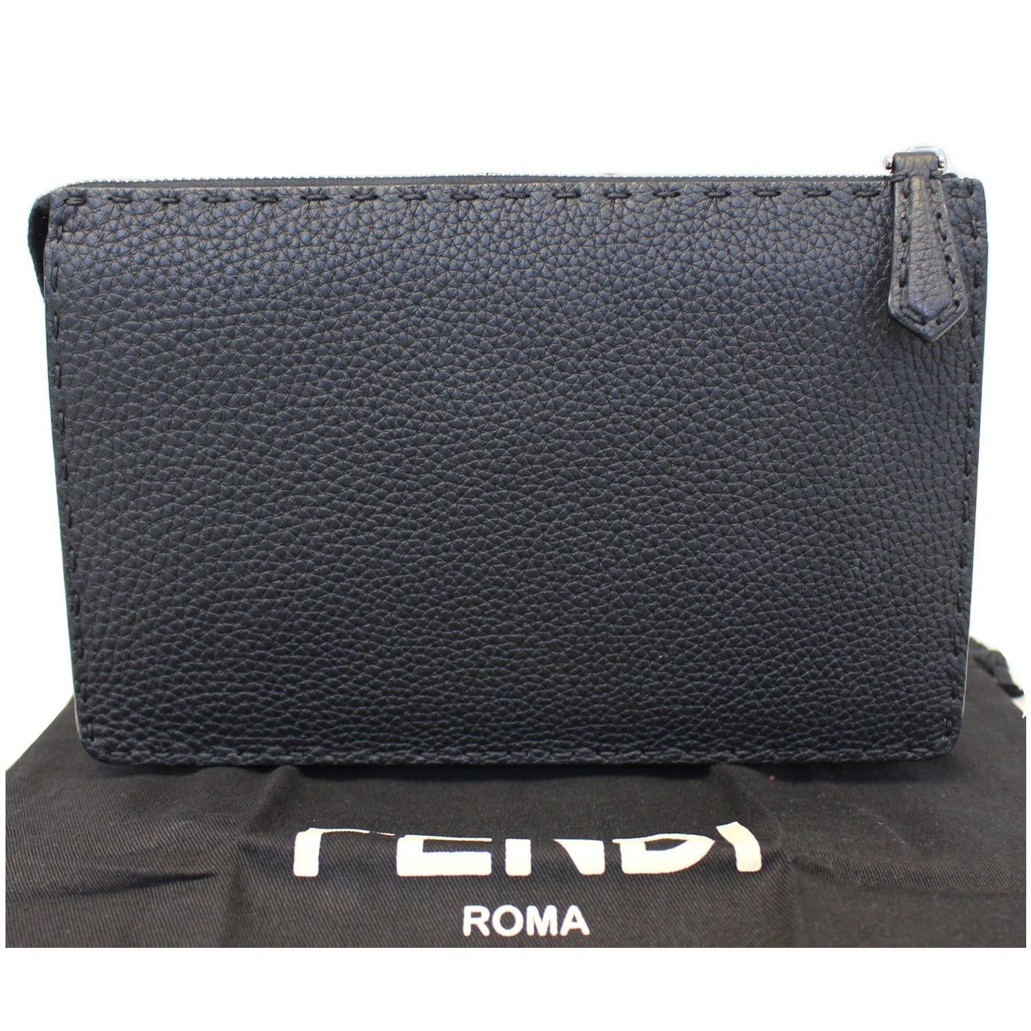 099f3ead023 ... FENDI Bag Bugs eyes Roman Leather Clutch-US ...