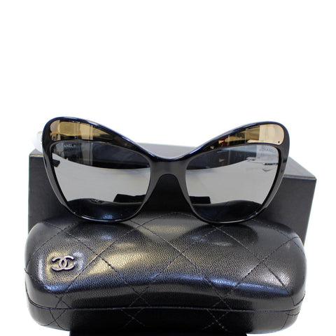 CHANEL Butterfly Runway Sunglasses Black