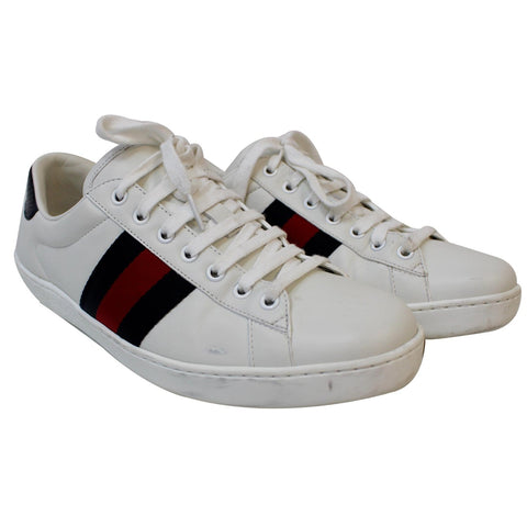 GUCCI Ace Low Top Sneakers White 386750 US 8.5