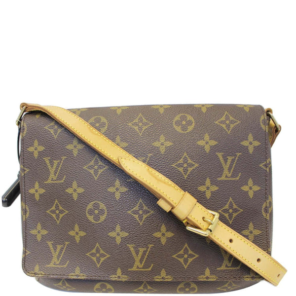 LOUIS VUITTON Musette Tango Monogram Canvas Short Strap Shoulder Bag Brown