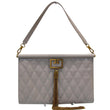 GIVENCHY Large Gem Goatskin Shoulder Bag Galet