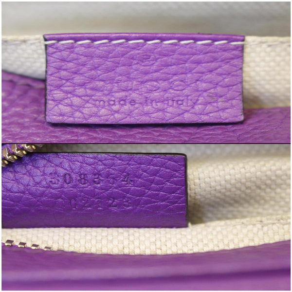 Gucci Crossbody Bag Soho Disco Pebbled Leather - gucci tag