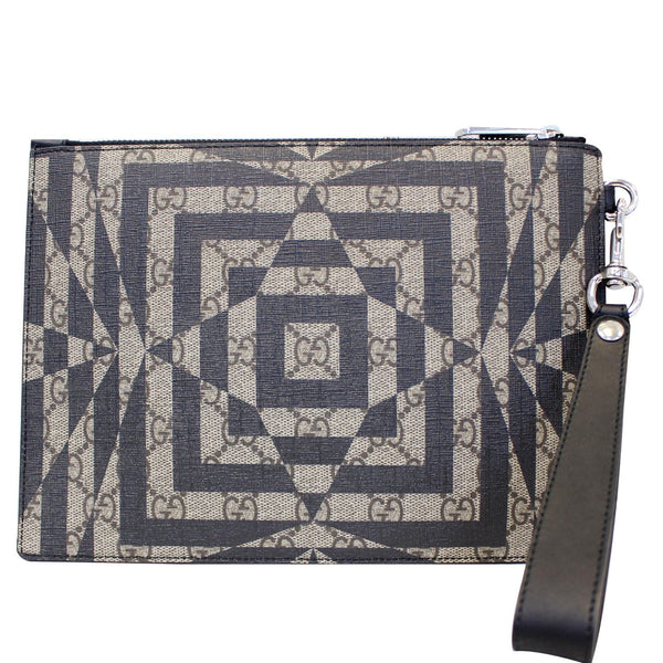 GUCCI GG Supreme Canvas Clutch Wristlet Pouch 411768-US