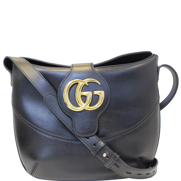 GUCCI Arli Medium Calfskin Leather Shoulder Bag 568857 Black-US