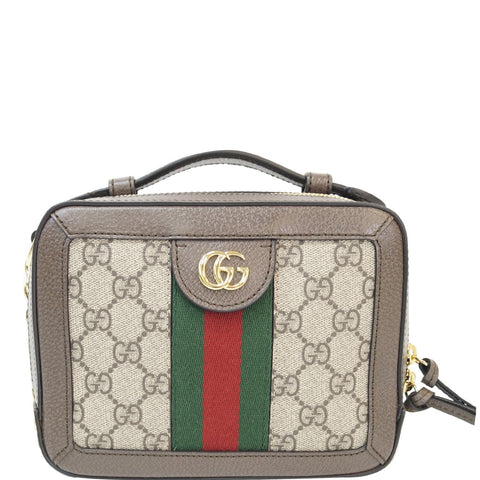 GUCCI Ophidia GG Mini Supreme Shoulder Bag Beige/Ebony 602576