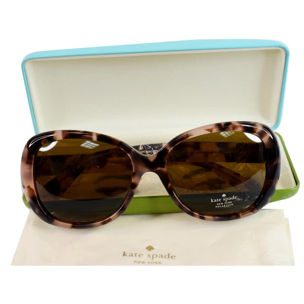 KATE SPADE JUDYANN/P/S HT8 56 Women Sunglasses Brown Polarized Lens