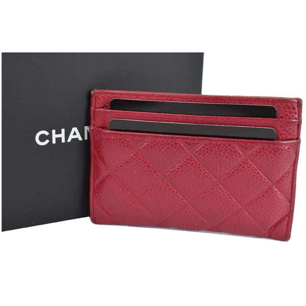 Chanel CC Card Holder Caviar Leather Case with cards