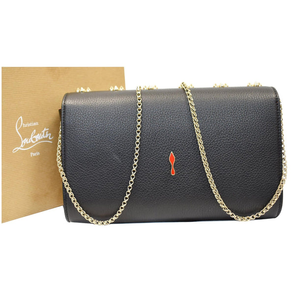 Louis Vuitton Paloma Embellished Leather Chain Clutch