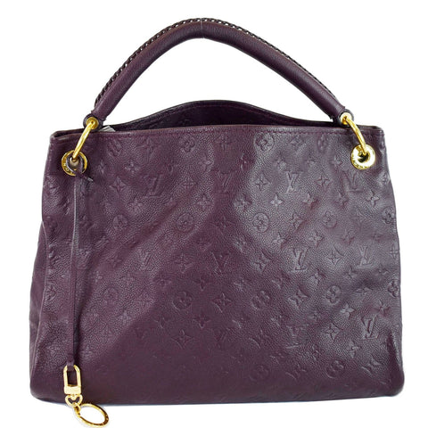 LOUIS VUITTON Artsy MM Empreinte Leather Shoulder Bag Aube