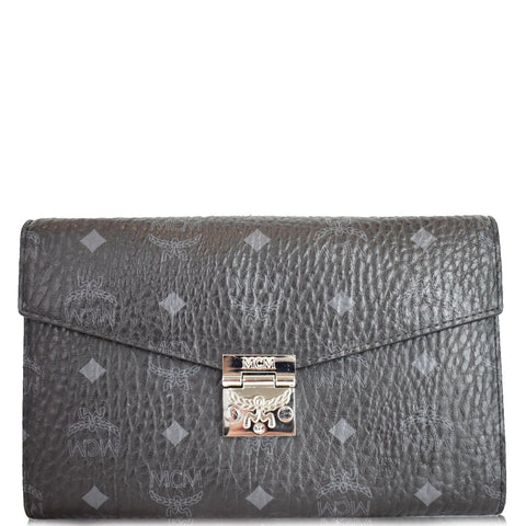 MCM Millie Flap Visetos Wallet On Chain Black