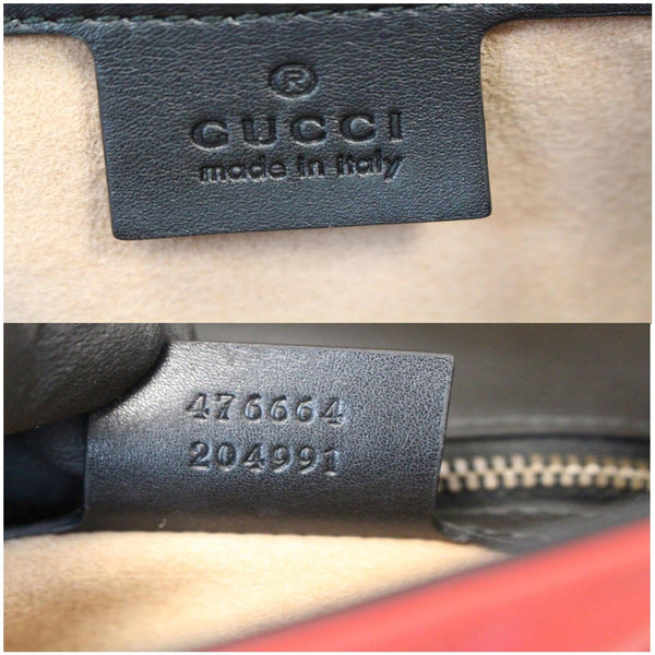 Gucci Queen Margaret Quilted Leather Bee Backpack gucci brand tags