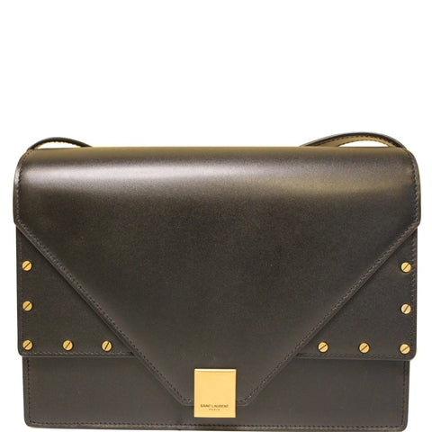 YVES SAINT LAURENT Small Margaux Leather Shoulder Bag Black
