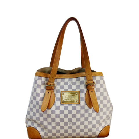 LOUIS VUITTON Hampstead PM Damier Azur Shoulder Bag White
