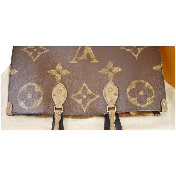 Louis Vuitton Onthego GM Reverse Monogram Canvas Bag - top upper view